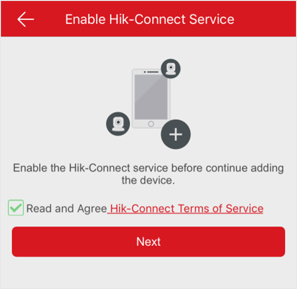 Enable Hik-Connect Service When Adding Device on Mobile Client
